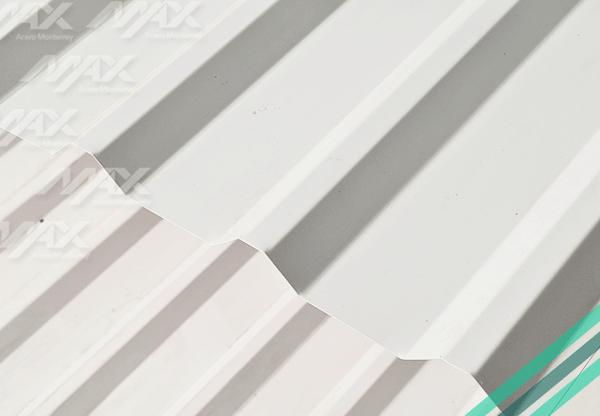 Lámina R101 Ternium con acabado pintro.